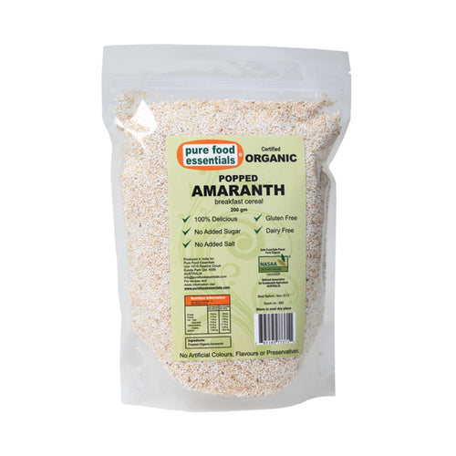 Pure Food Essetials Popped Amaranth  200g - GoodnessMe