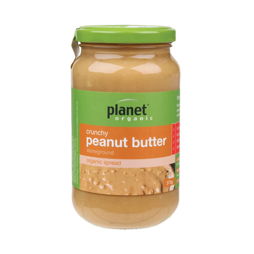 Planet Organic Peanut Butter Crunchy 375g - GoodnessMe