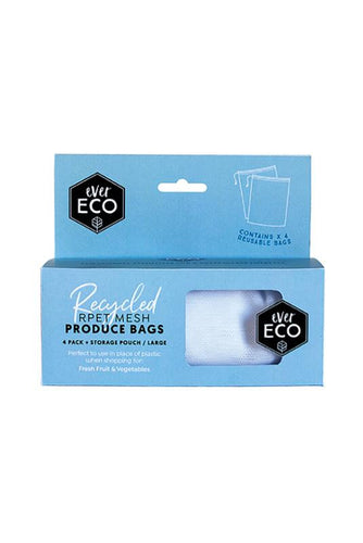 Ever Eco Reusable Produce Bags Recycled 4 Pack - GoodnessMe