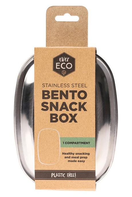 Ever Eco Stainless Steel Bento Snack Box - 1 Compartment - GoodnessMe