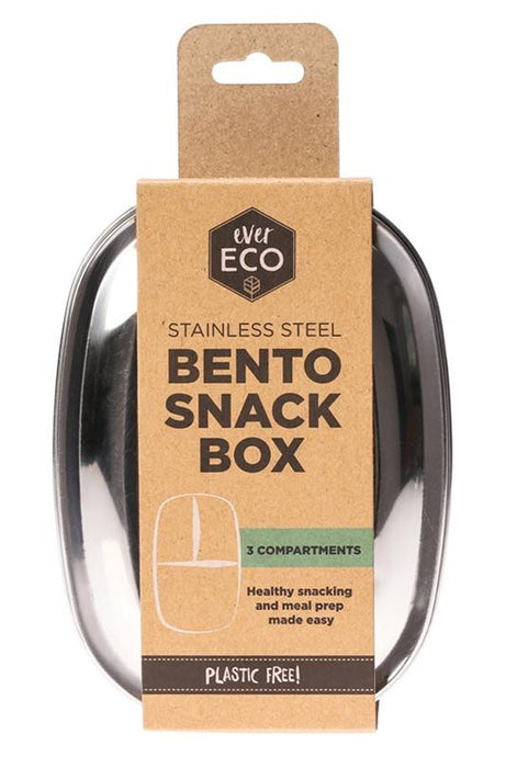 Ever Eco Stainless Steel Bento Snack Box - 3 Compartments - GoodnessMe