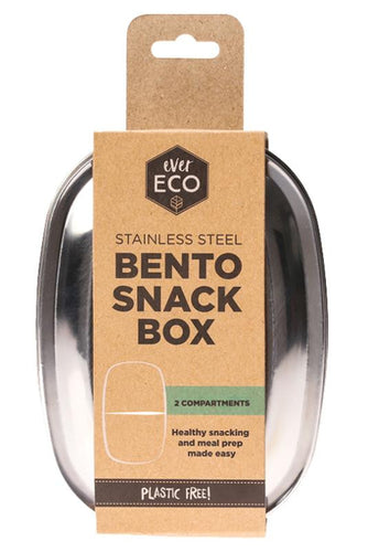 Ever Eco Stainless Steel Bento Snack Box - 2 Compartments - GoodnessMe