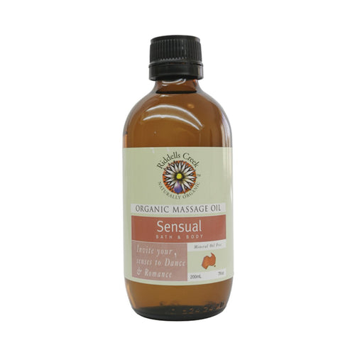 Riddells Creek Organic Massage Oil - Sensual 200ml - GoodnessMe