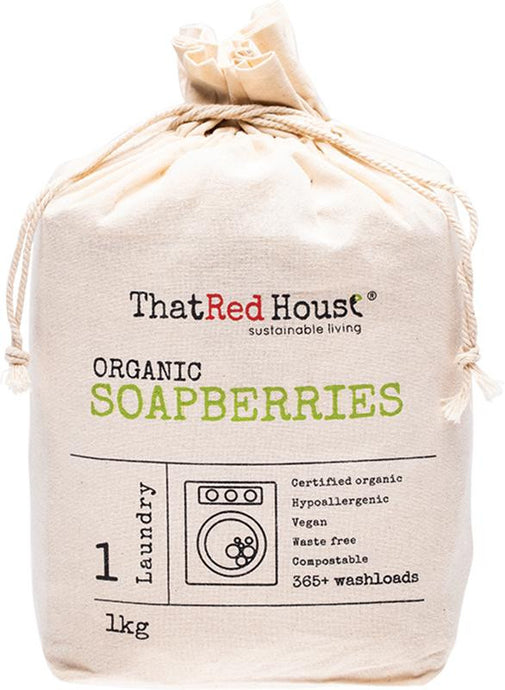That Red House Organic Soapberries 365+ Washloads 1kg - GoodnessMe