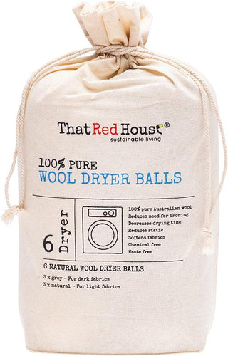 That Red House 100% Pure Wool Dryer Balls x 6 Dryers - GoodnessMe