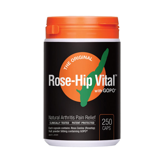 Rose-Hip Vital Arthritis Pain Relief Capsules 250 - GoodnessMe