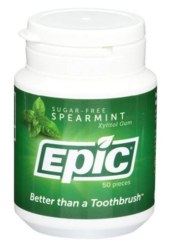 Epic Xylitol Chewing Gum Spearmint 50 - GoodnessMe