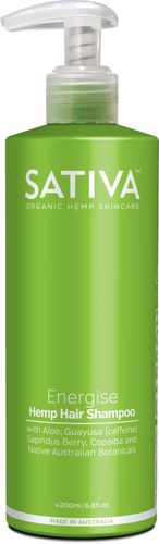 Sativa Hemp Shampoo Energise 200ml - GoodnessMe