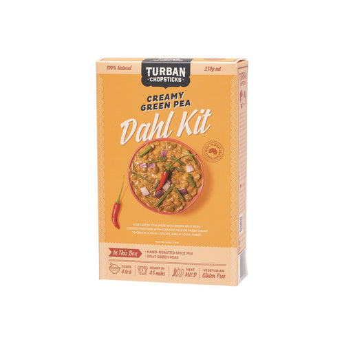 Turban Chopsticks Dahl Kit Creamy Green Pea 230g - GoodnessMe