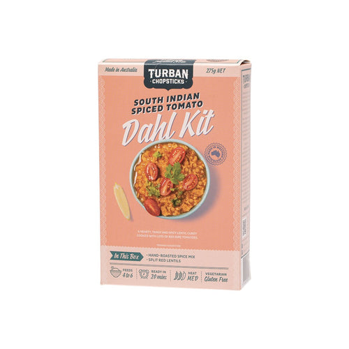 Turban Chopsticks Dahl Kit South Indian Spiced Tomato 275g - GoodnessMe