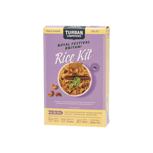 Turban Chopsticks Rice Kit Royal Festival Briyani 290g - GoodnessMe