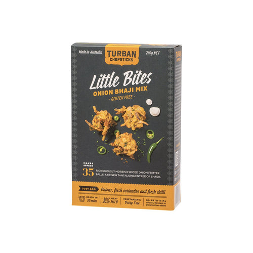 Turban Chopsticks Little Bites Onion Bhaji Mix 200g - GoodnessMe