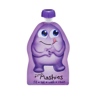 Little Mashies Reusable Squeeze Pouch Pack of 2 - Purple 2x130ml