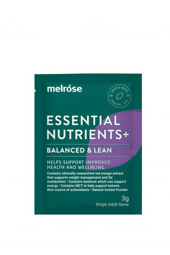 Melrose Essential Nutrients + Balanced & Lean (30 x 3g Sachets) - GoodnessMe