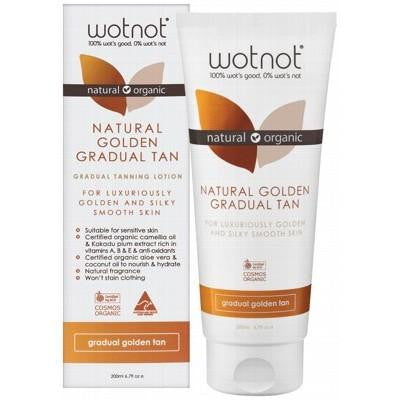 Wotnot Gradual Tanning Lotion Golden Tan 200ml - GoodnessMe