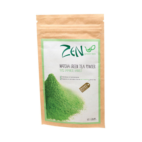 Zen Green Tea Matcha Green Tea Powder 100% Japanese Harvest 60g - GoodnessMe
