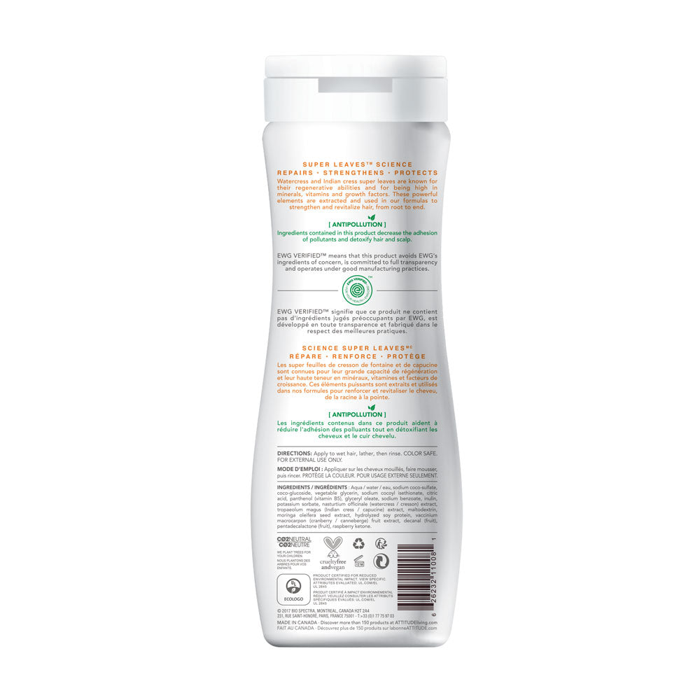 Shampoo natural volumen y brillo 473 ml - Attitude