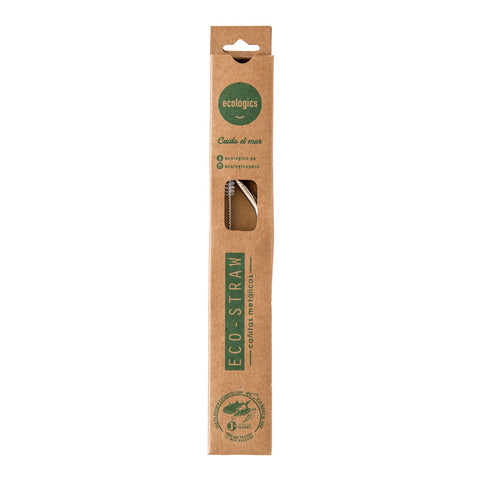 Cañita de acero inoxidable pack x 1 - Menaje Eco Straw