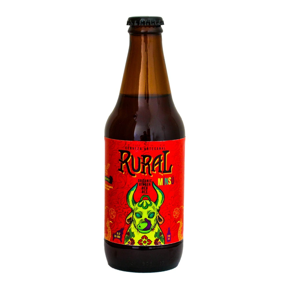 Cerveza - Rural MÍNSÚ (Red Ale Con Kión Orgánico) 330 Ml - Rural