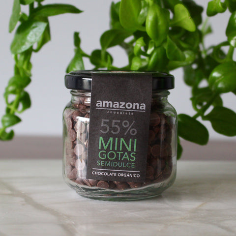Minigotitas de Chocolate Orgánico 55% de 150 gr - Amazona Chocolate