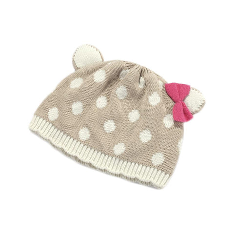 Polka Dot Winter Beanie Baby Girl Hat