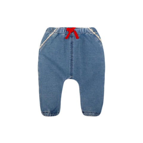Lovely Denim Pants Baby Girl Cute Trousers