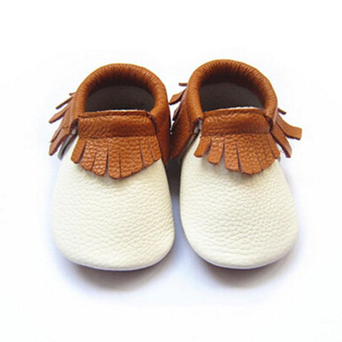 Leather Fringe Moccasins