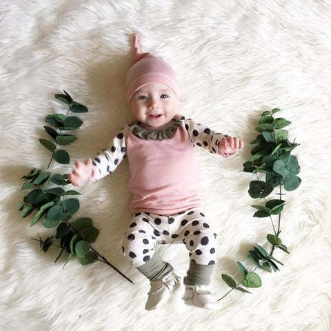 Polka Dots Autumn/ Winter Baby Girl Outfit Set