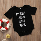My Best Friend Is My Papa Letter Printed Casual Romper