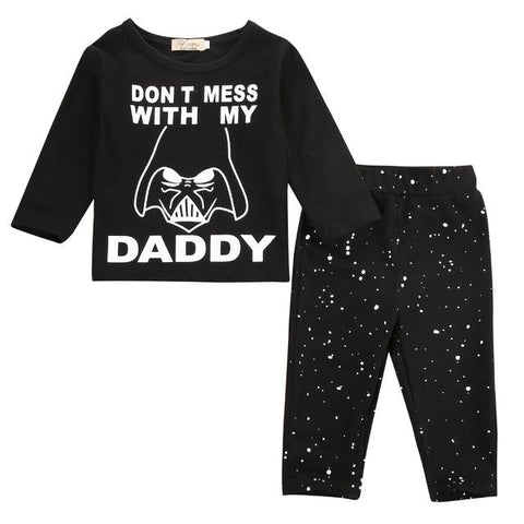 Cute Star Wars Statement Baby Boy Outfit Set