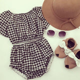 Black & White Stripes Outfit Casual Baby Girl Set
