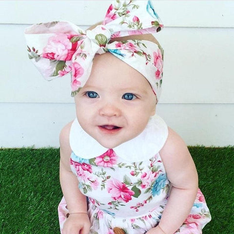 Cute Summer Floral Baby Girl Outfit Set