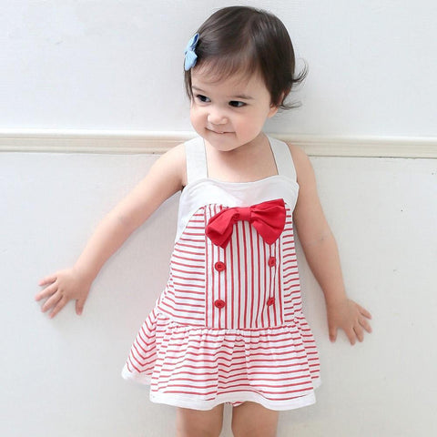 Red Striped Baby Girl Dress