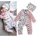 Cute Floral Jumpsuit Baby Girl Outfit Set