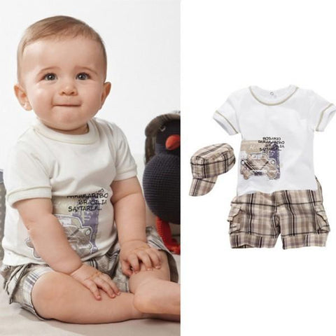 Cute Summer Baby Boy Outfit Set