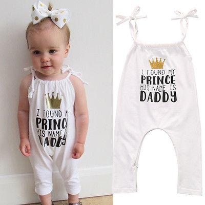 Lovely White Baby Girl Romper