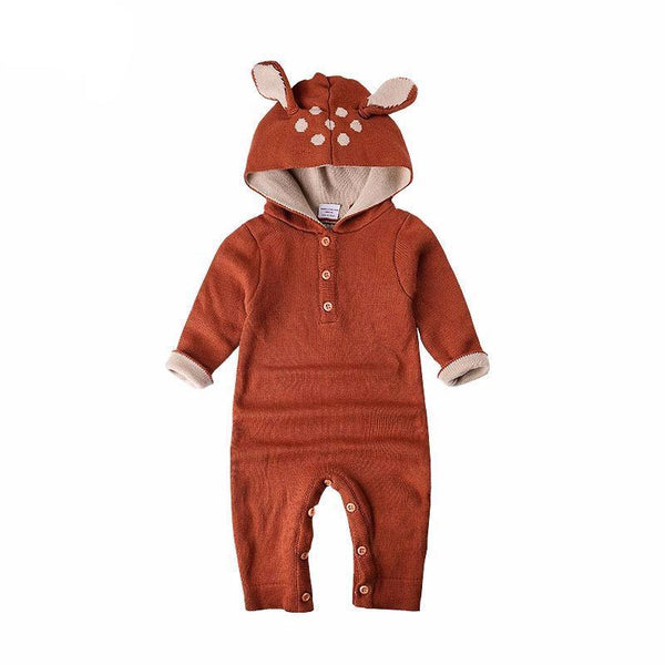 Soft Knitted Brown Baby Costume