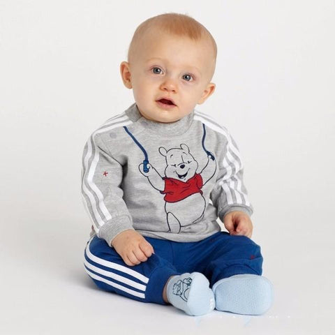 Happy Bear Logo Baby Boy Outfit Set