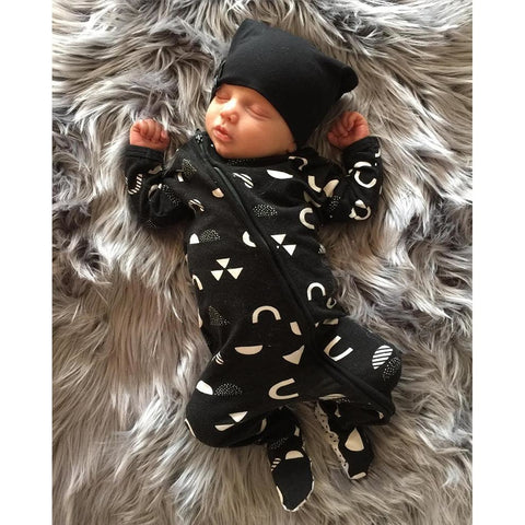 Cute Symbols Baby Boy Jumpsuit