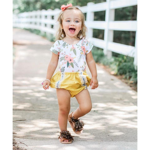 Baby Summer Outfit Floral Set