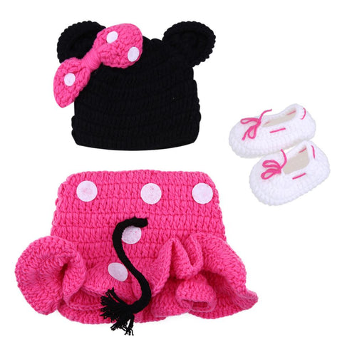 Black & Pink Mouse Costume Baby Girl Outfit