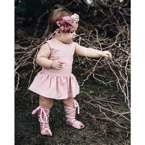 Pink Princess Skirted Dress