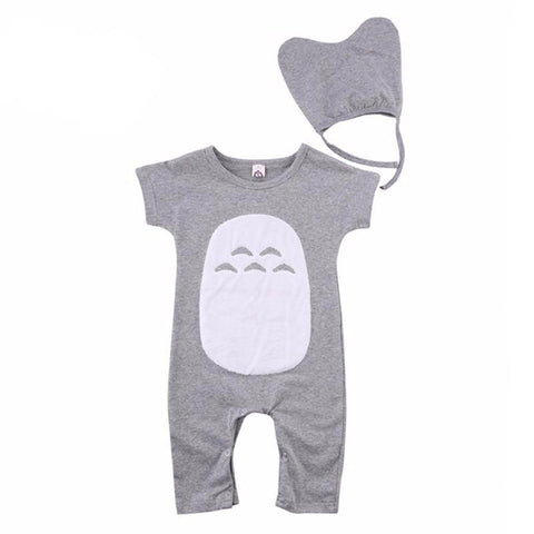 Grey & White Baby Boy Cute Outfit Set
