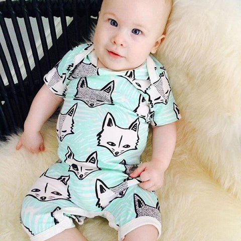 Cartoon Fox Logo Baby Outfit Set