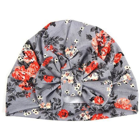 Cute Floral Turban Baby Girl Hat