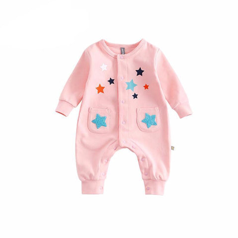 Multicolor Stars Casual Jumpsuit