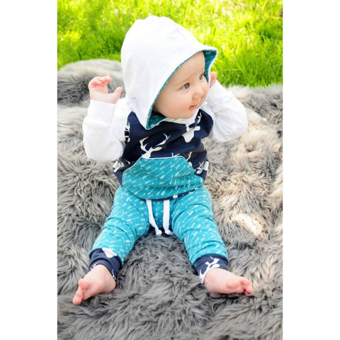 Hooded Deer Logo Outfit Baby Boy Set