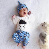 Black Cloud With Rain Outfit Baby Boy Set