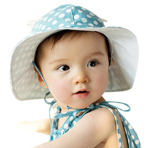 Sweet Baby Girl Polka Dot Beach Hat