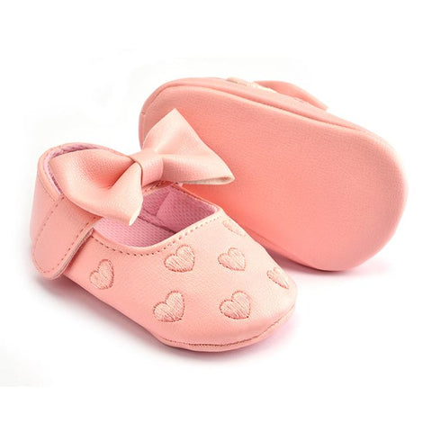 Baby Girl Heart Moccasins